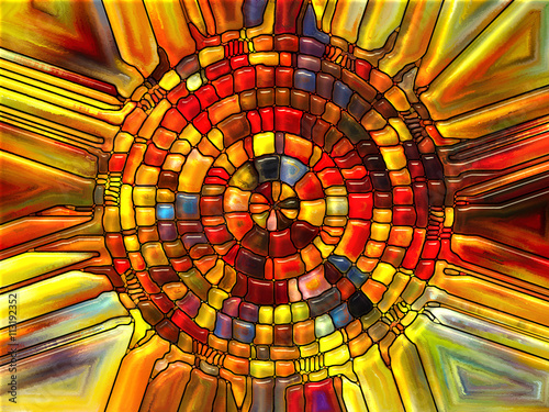 Foto Spatwand Glas In Lood Virtual Stained Glass