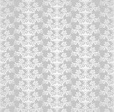 Silver seamless victorian style floral wallpaper
