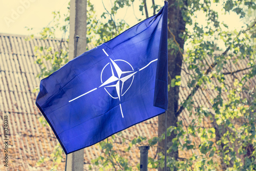 Poster The flag of the  NATO