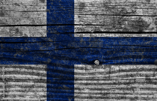 Poster Finland grunge flag