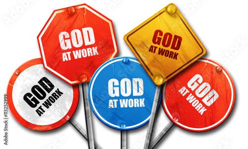 God at work sign