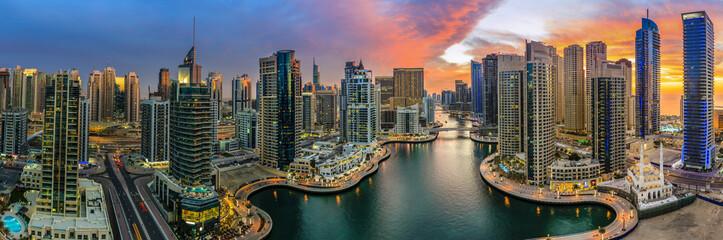Fototapeta panorama na Dubaj marina