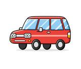 Red cartoon car.