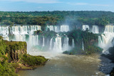 Fototapety Iguazu Falls, the largest series of waterfalls of the world, located at the Brazilian and Argentinian border. View from Brazilian side.