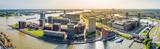 Rotterdam, Panorama vom Hafenviertel, Holland
