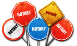 notary, 3D rendering, rough street sign collection