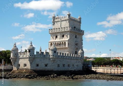 Fotobehang Overige View on Belem tower in Lisbon, Portugal