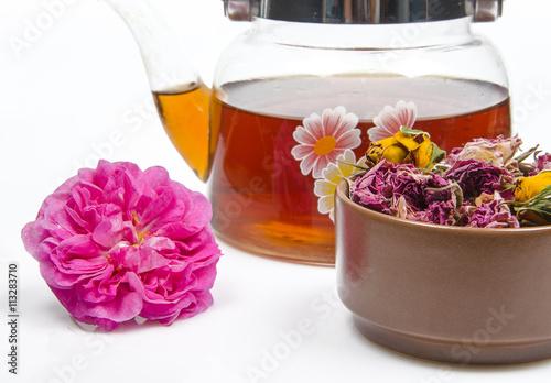 Zdjęcia na płótnie, fototapety, obrazy : tea and rose