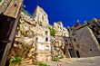 Old houses on the rock in town of Sibenik