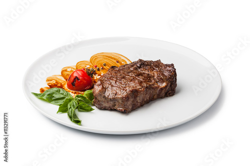 Plexiglas Steakhouse Grilled beef steak