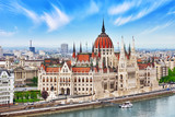 Hungarian Parliament at daytime. Budapest. View from Old Fisherm - 113313355