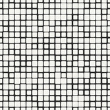 Vector seamless pattern. Modern stylish irregular geometric background with structure of repeating squares.
