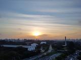 Por do sol em São Paulo.