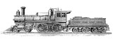19th century, American steam locomotive for passenger transport