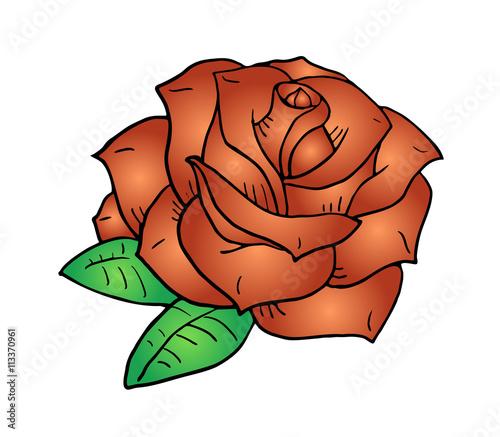 Zdjęcia na płótnie, fototapety, obrazy : nice rose illustration