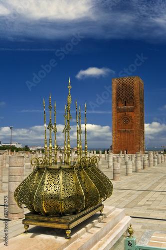 Fotobehang Marokko Morocco. Rabat. The Hassan Tower (Tour Hassan)