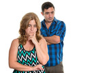 Divorce, Conflicts in marriage - Sad hispanic couple