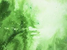 Groene abstracte kunst achtergrond, textuur schilderij.