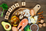 Fototapety Animal and vegetable sources of omega-3
