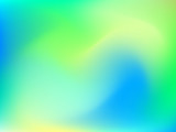 Fototapety Abstract blur gradient background with trend pastel green, yellow and blue colors for deign concepts, wallpapers, web, presentations and prints. Vector illustration.