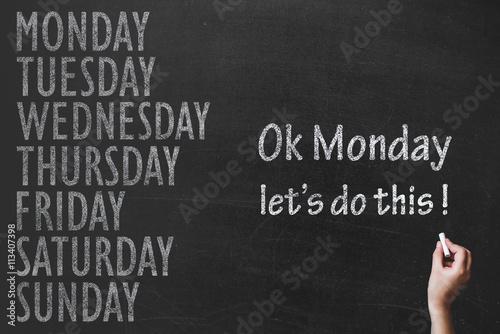 Monday Morning Working Motivation Photo by dmshpak
