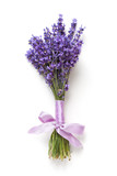 Lavender flowers bouquet on white background - 113412303