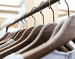 Clothing on Hangers Fashion retail Display Shop Business concept
