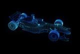 F1 Ferrari Wireframe Hologram