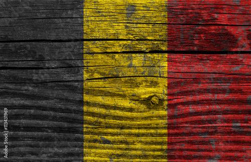 Belgium grunge flag Poster