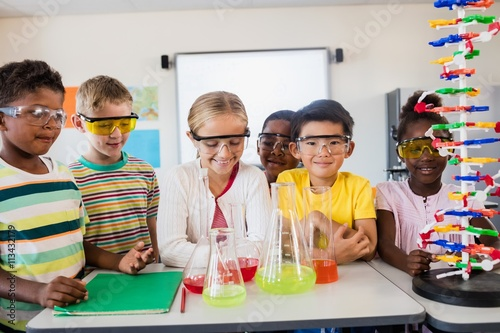 Pupils doing science