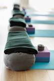 Yoga equipment in a class