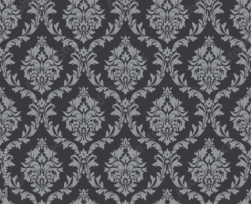 Tuinposter Stof Vector seamless floral damask pattern