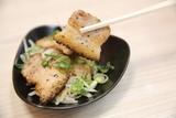 Japanese grilled pork , japanese food