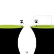 Schafe spielen Fußball
