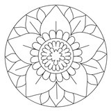 Coloring Lovely Flower Mandala