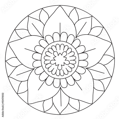 Coloring Lovely Flower Mandala