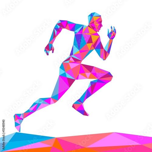 Fototapeta The crystal runner vector illustration on a white background