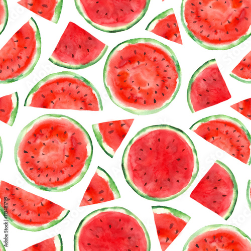 pattern with watermelon - 113481799