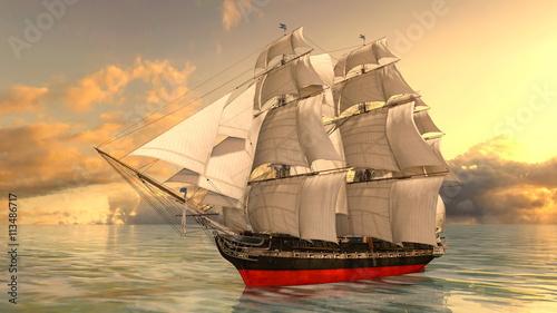 Fototapeta 帆船
