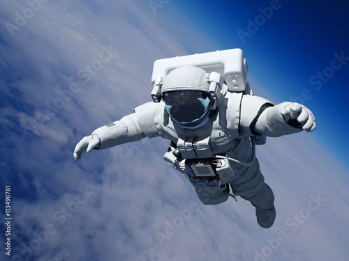 Foto op Canvas Astronaut above the clouds
