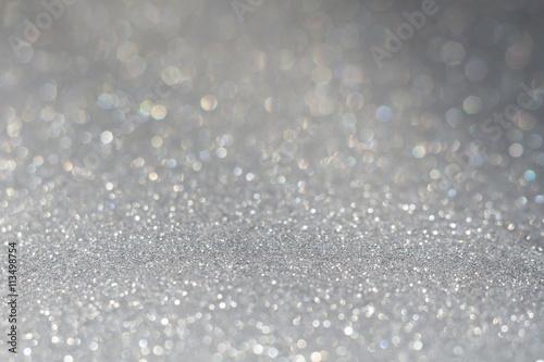 Fotografiet Grey Glitter Texture Macro