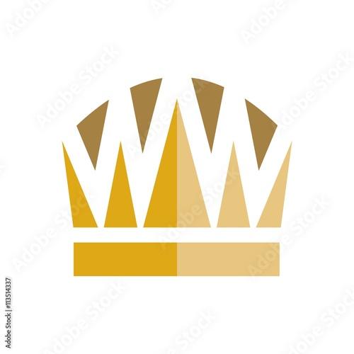 design logo crown gems creative color purple design