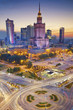 Warsaw. Image of Warsaw, Poland during twilight blue hour. - 113516501