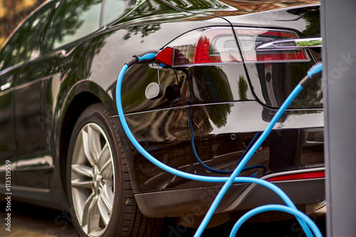 Poster Electric Car Charging