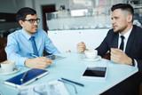 Consulting of businessmen