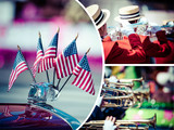 Collage of American parade