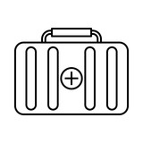 First aid kit icon, outline style