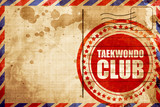 taekwondo club, red grunge stamp on an airmail background