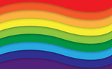 Abstract rainbow curve background, Vector illustration eps10 - 113566712