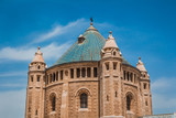 The top part of the Abbey of the Dormition building at Mount Zion in Jerusalem.
